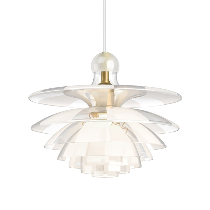 PH Septima pendant lamp, brass / clear by Louis Poulsen .