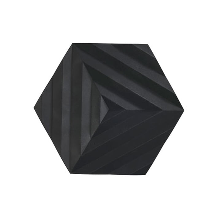 Ori trivet, 16 x 14 cm, Fold / black from Zone Denmark