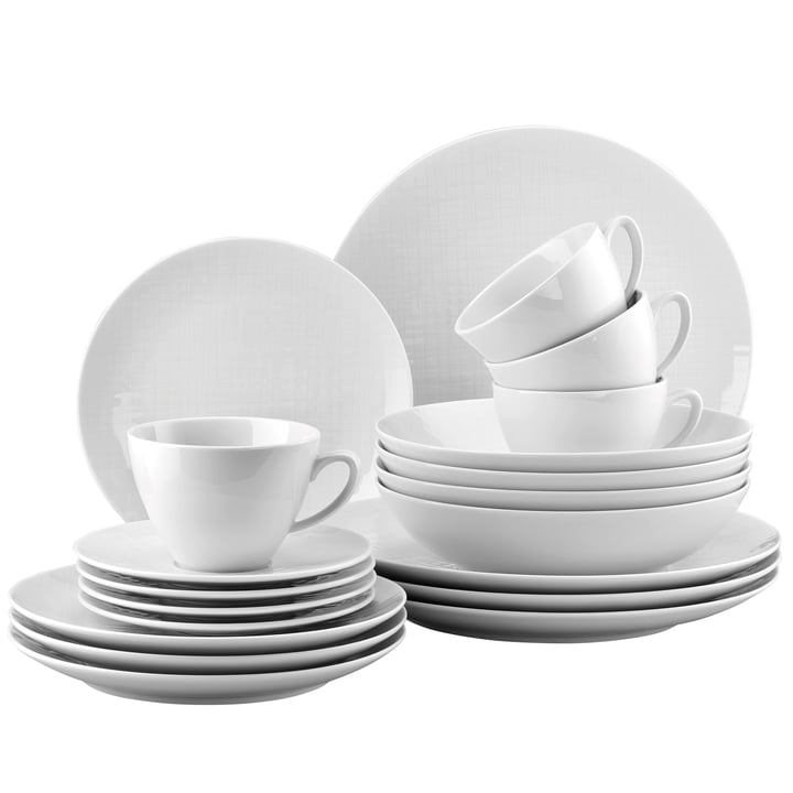 Mesh white dinner set, combination cup (set of 20) by Rosenthal