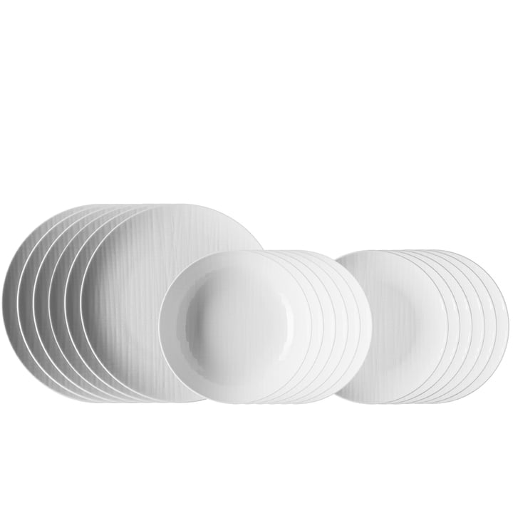 Mesh white dinner set (18 pieces) by Rosenthal