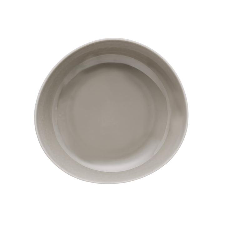 Junto plate Ø 22 cm deep, pearl grey by Rosenthal