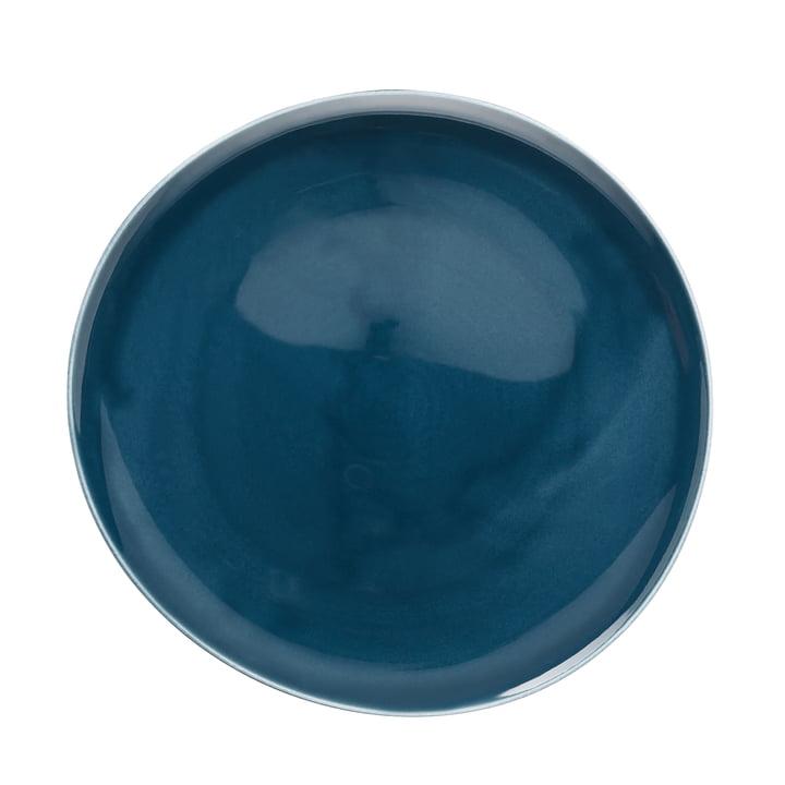 Junto plate Ø 27 cm flat, ocean blue by Rosenthal