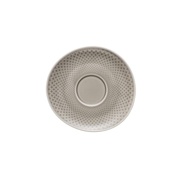 Junto combination / tea / coffee saucer Ø 15 cm, pearl grey by Rosenthal