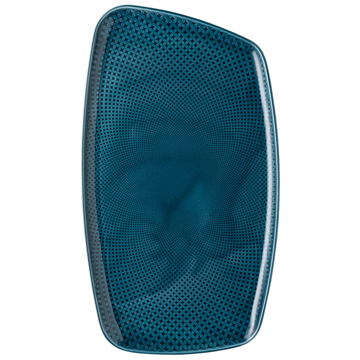Junto plate, 36 x 21 cm, ocean blue by Rosenthal