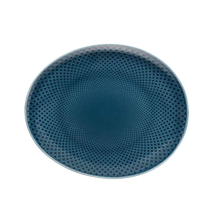 Junto plate Ø 22 cm flat, ocean blue by Rosenthal