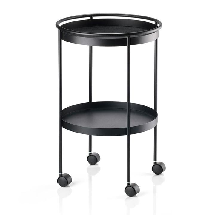 Rocks bar trolley with wheels, black by Zone Denmark