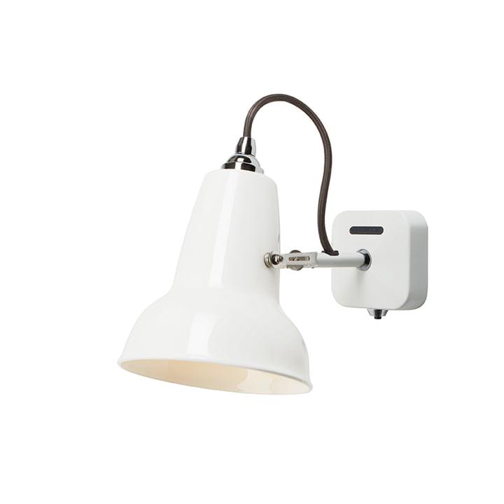 Original 1227 Mini Ceramic wall lamp, pure white by Anglepoise
