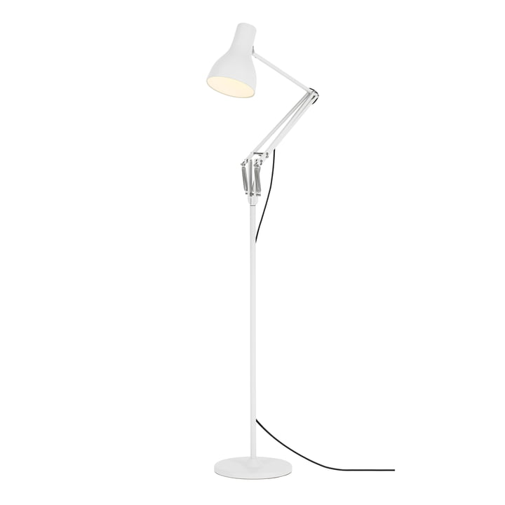 Type 75 floor lamp, alpine white by Anglepoise