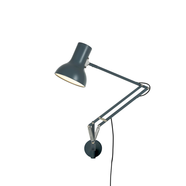 Type 75 Mini wall lamp with wall bracket, slate grey by Anglepoise