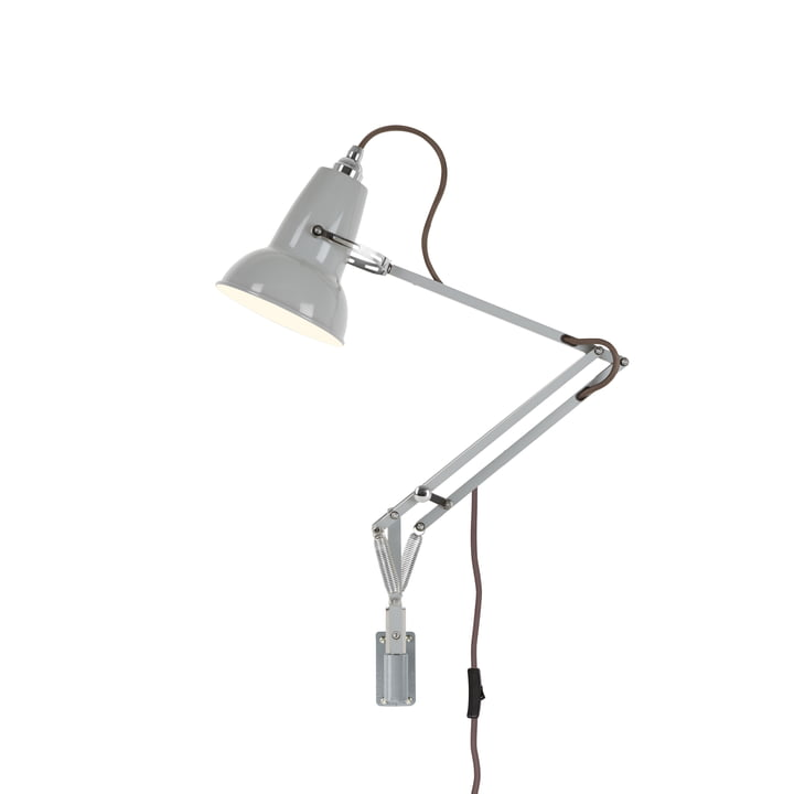 Original 1227 mini wall light with wall bracket, dove gray (cable: gray) from Anglepoise .