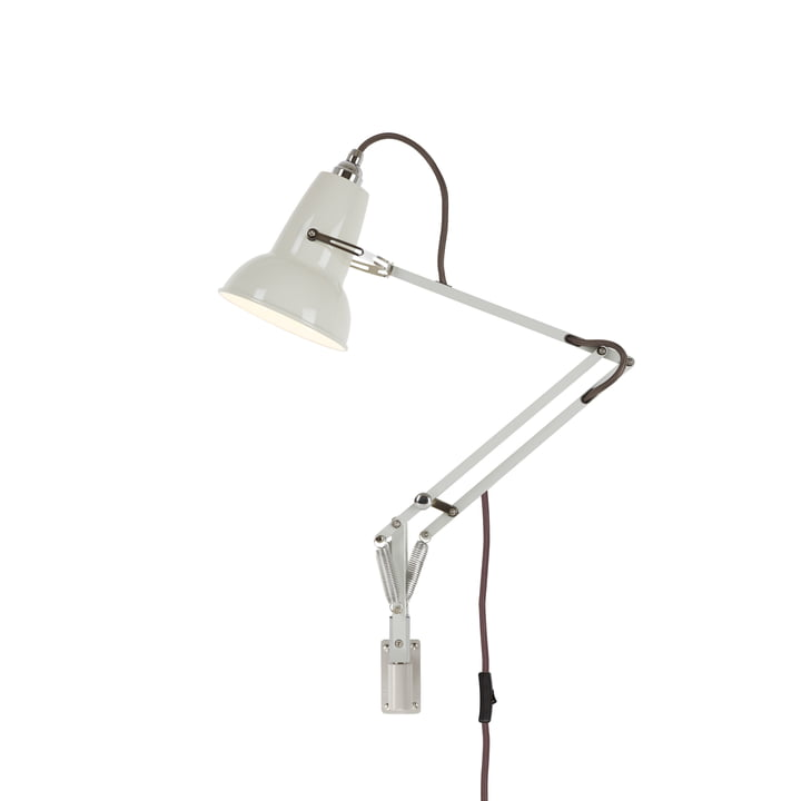 Original 1227 mini wall lamp with wall bracket, linen white (cable: gray) by Anglepoise .
