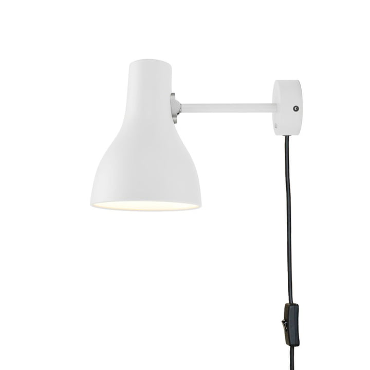 Type 75 wall lamp, alpine white (with cable) by Anglepoise