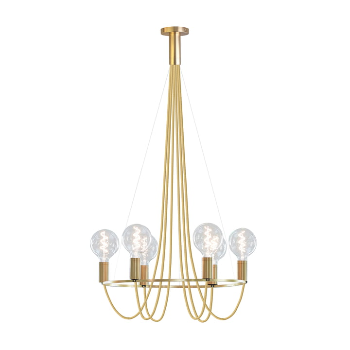 HALO Chandelier by NUD Collection in Gold Spire (TT-150)