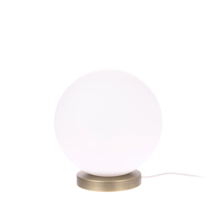 The Ball table lamp, M, Ø 20 cm, white / brass by HKliving