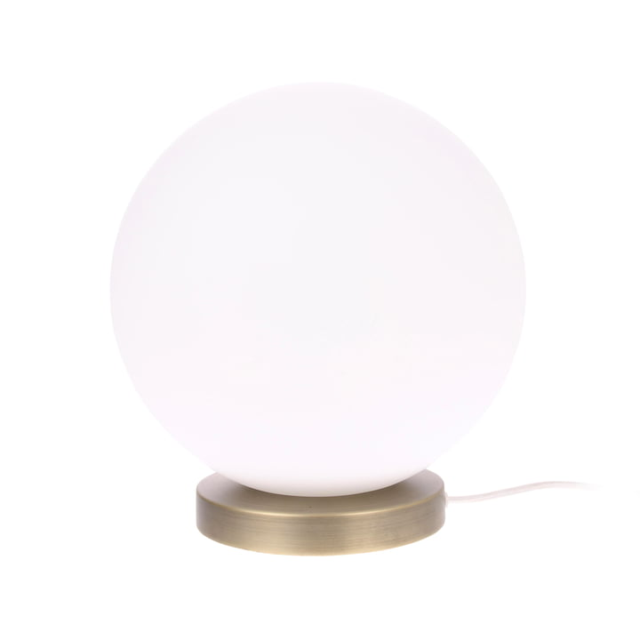 The Ball table lamp, L, Ø 30 cm, white / brass by HKliving