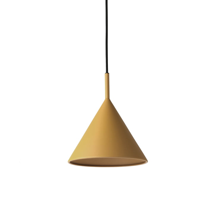 HKliving - Triangle pendant lamp, M Ø 22 x H 25 cm, matt ocher