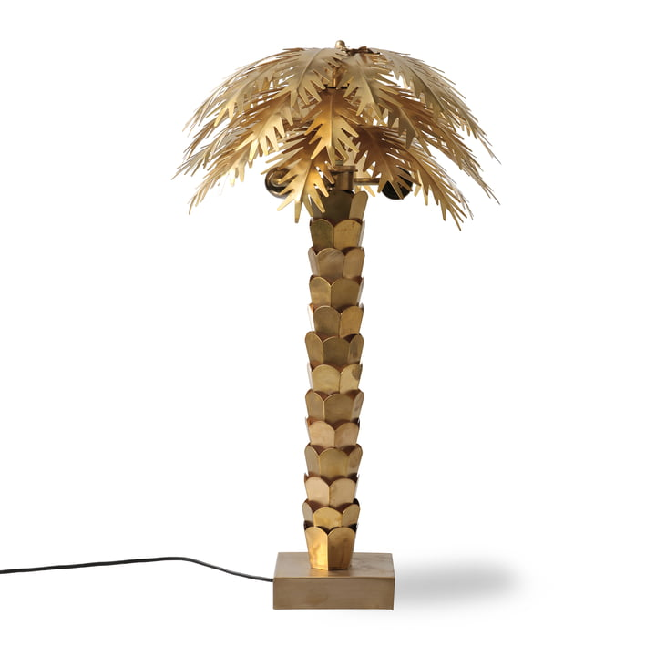 The Palm table lamp, H 68 cm, brass from HKliving