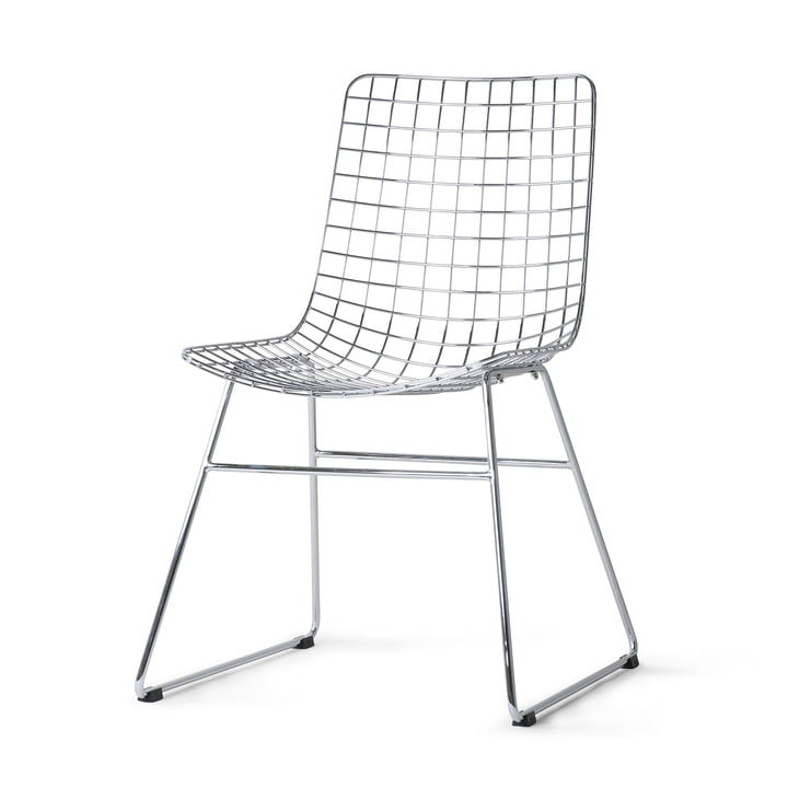 HKliving - Wire Chair, chrome