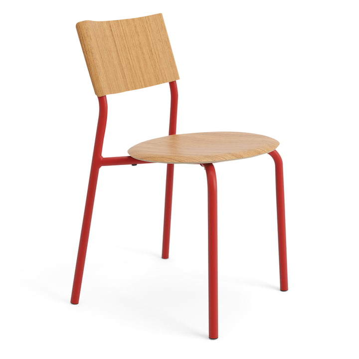 The SSD chair, oak / tomato red by TipToe