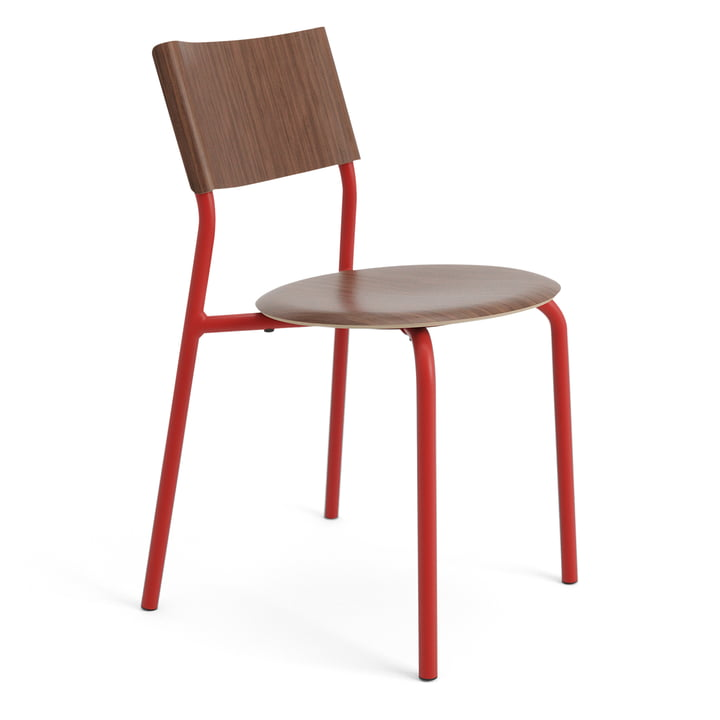 The SSD chair, walnut / tomato red from TipToe