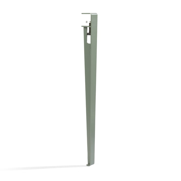 The table and desk leg H 75 cm, eucalyptus gray by TipToe