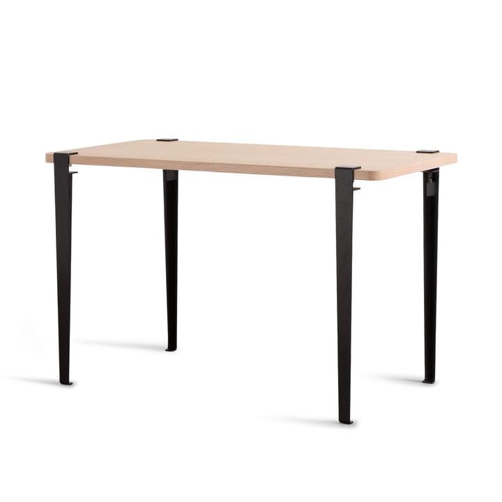 The NOMA desk, oak / graphite black by TipToe