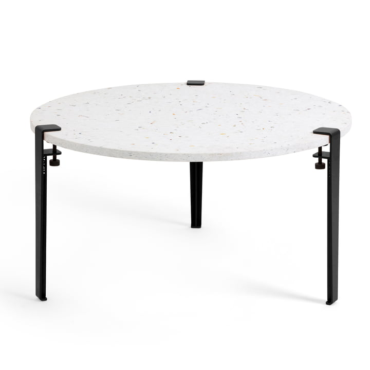 The VENEZIA coffee table Ø 80 cm, graphite black by TipToe