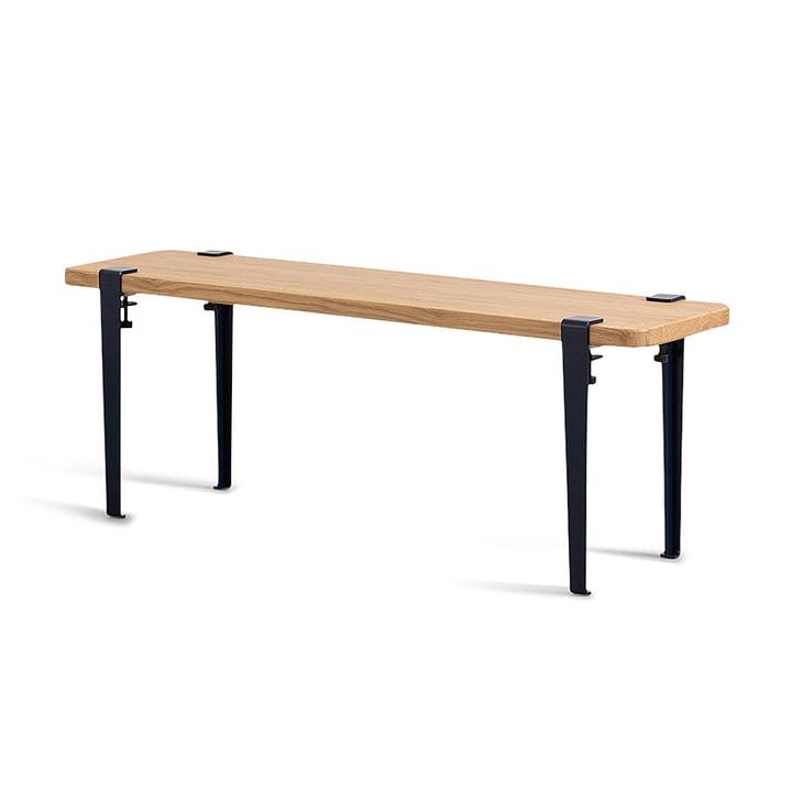 The DUKE bench, oak / graphite black from TipToe