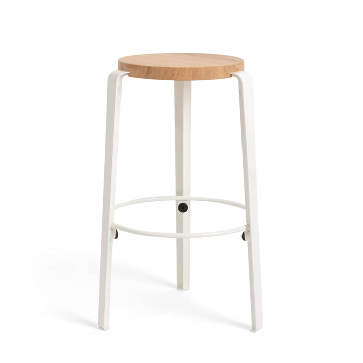 The MI LOU bar stool, oak / cloud white by TipToe
