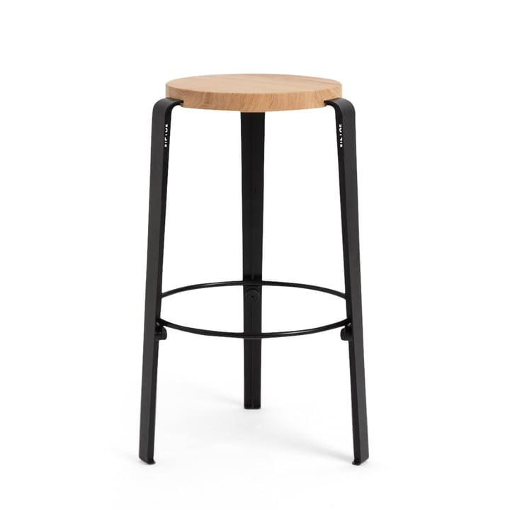 The MI LOU bar stool, oak / graphite black by TipToe