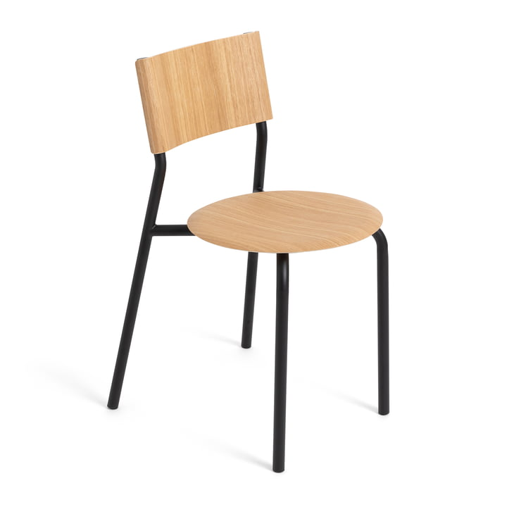 The SSD chair, oak / graphite black by TipToe