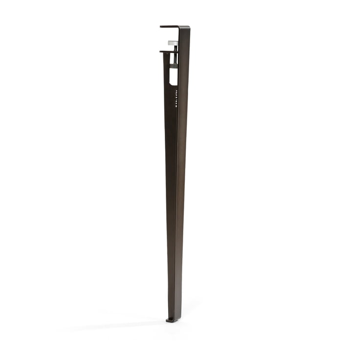 The table and desk TipToe H 75 cm, patinated steel by TipToe