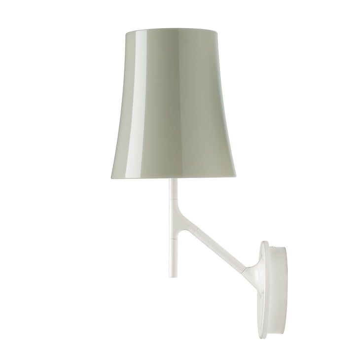 The Birdie wall lamp, gray by Foscarini