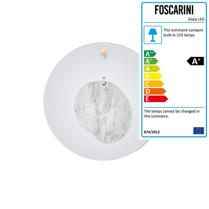 The Gioia wall lamp, azure blue by Foscarini