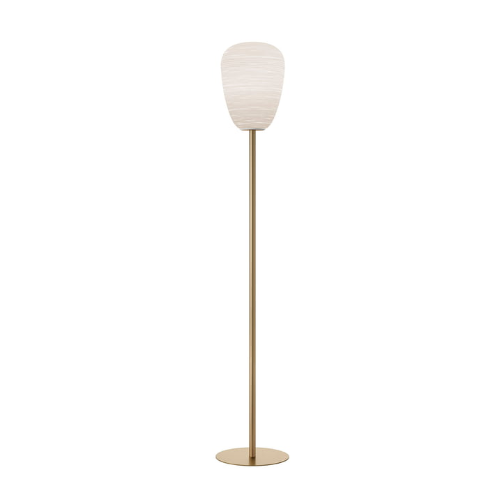 The Rituals 1 floor lamp, white / gold by Foscarini