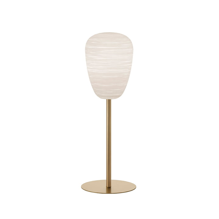 The Rituals 1 table lamp with stand, white / gold by Foscarini