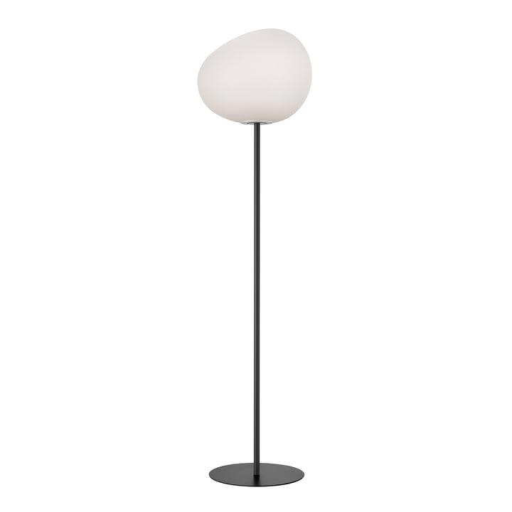 The Gregg floor lamp, grande, white / granite by Foscarini