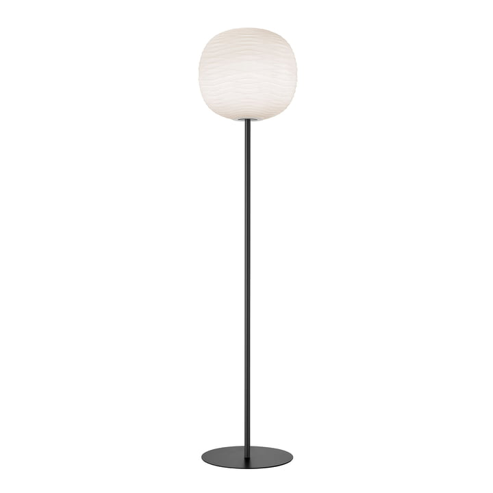 Gem floor lamp, white / granite by Foscarini