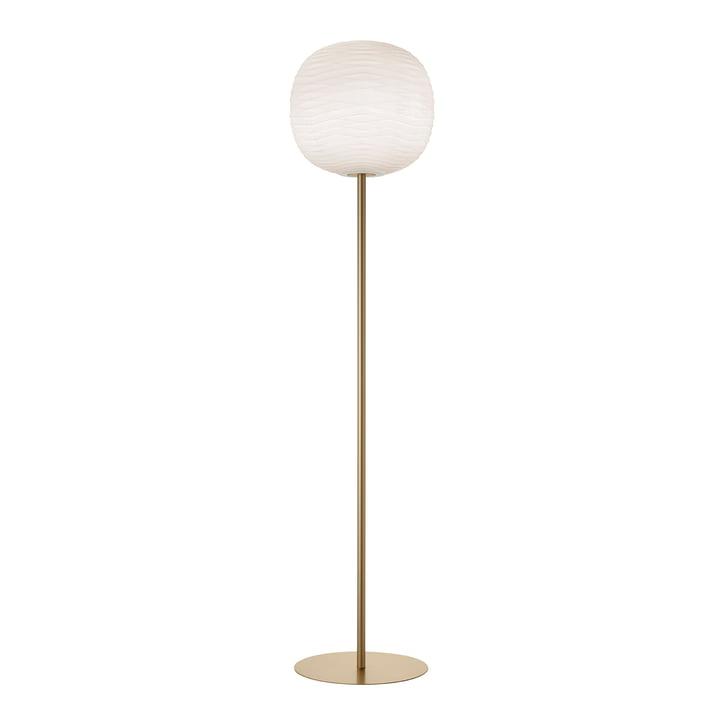 The Gem floor lamp, white / gold by Foscarini