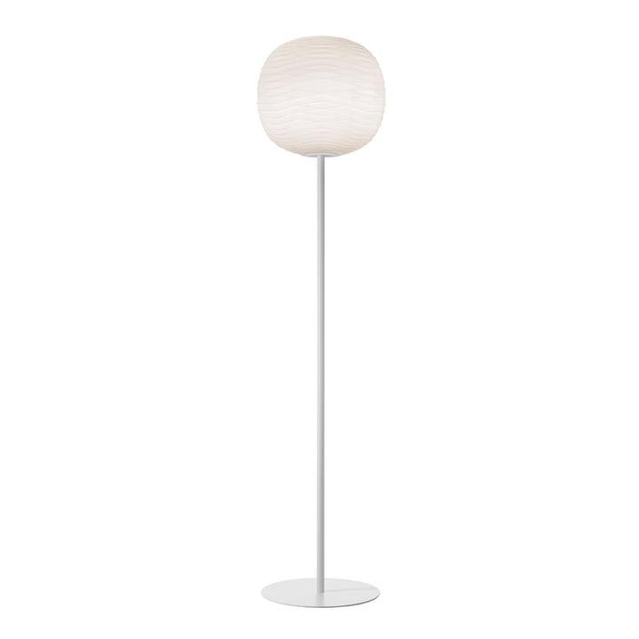 The Gem floor lamp, white / white by Foscarini