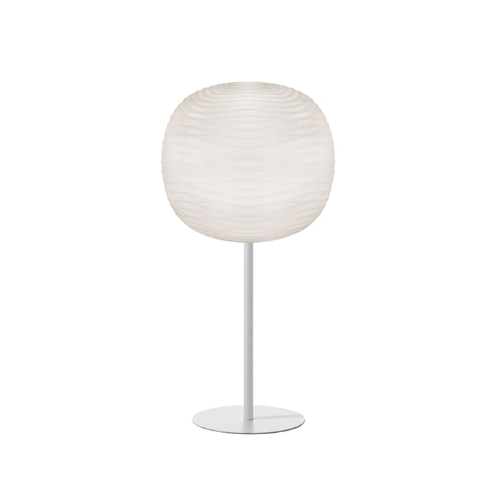 Gem table lamp with stand, white / white by Foscarini