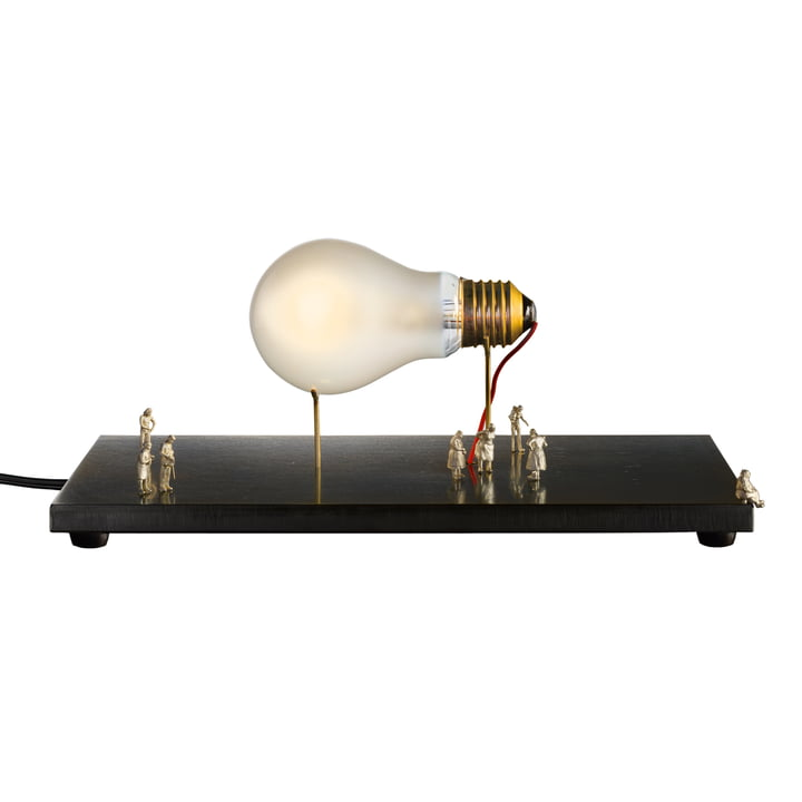 The I Ricchi Poveri - Monument for a Bulb table lamp, brass / black (EU) by Ingo Maurer