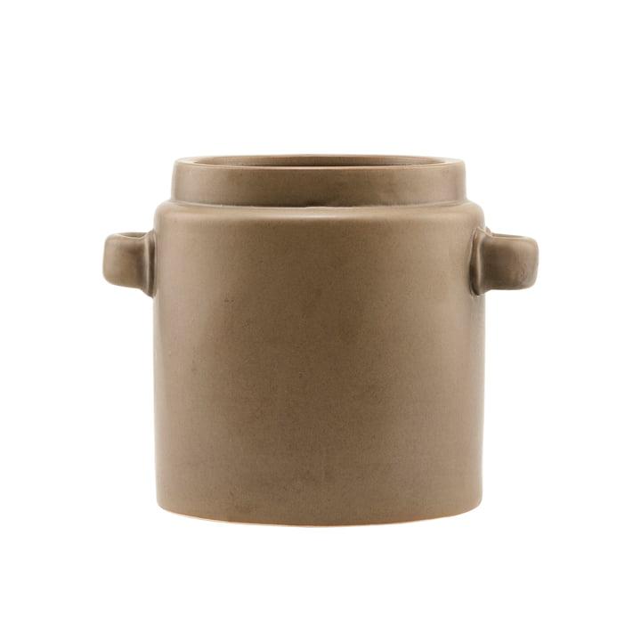 The Bundi flower pot, Ø 19.5 x H 20 cm, brown by House Doctor