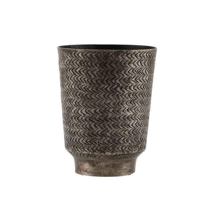 The Oli flower pot, Ø 14.5 x H 18 cm, matt black Finish by House Doctor