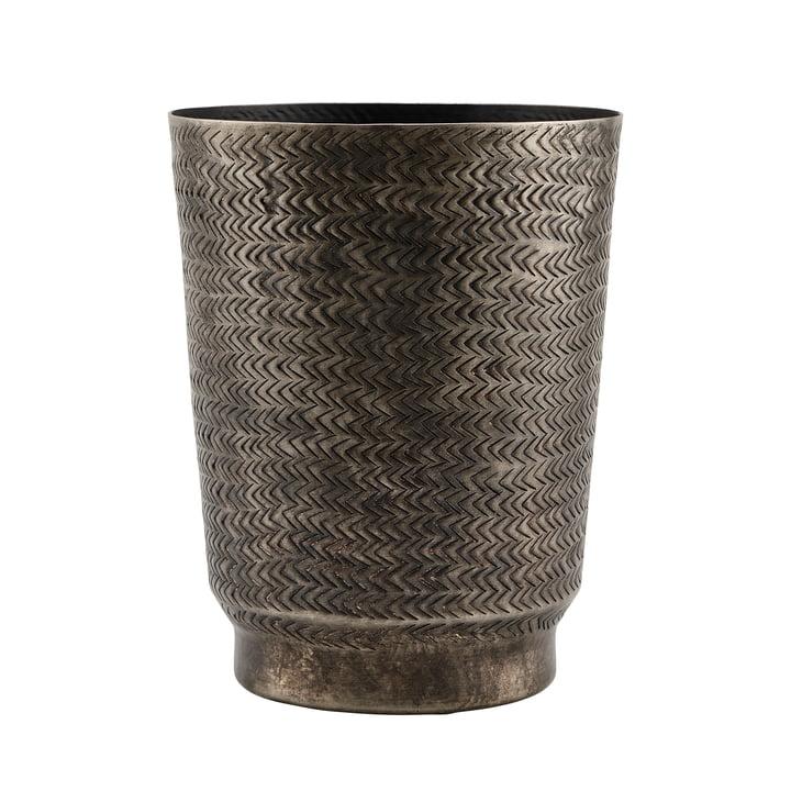 The Oli flower pot, Ø 20 x H 25 cm, matt black Finish by House Doctor