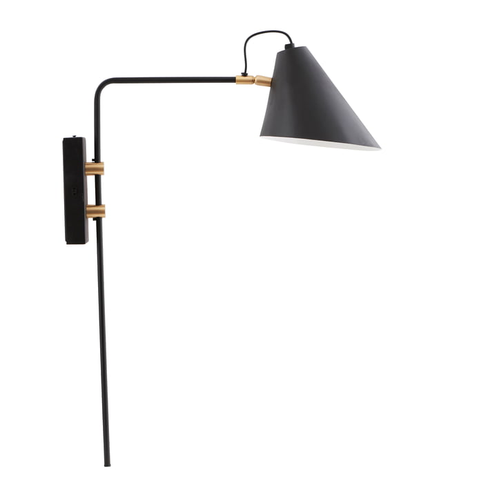 The Club wall lamp, single / black by House Doctor