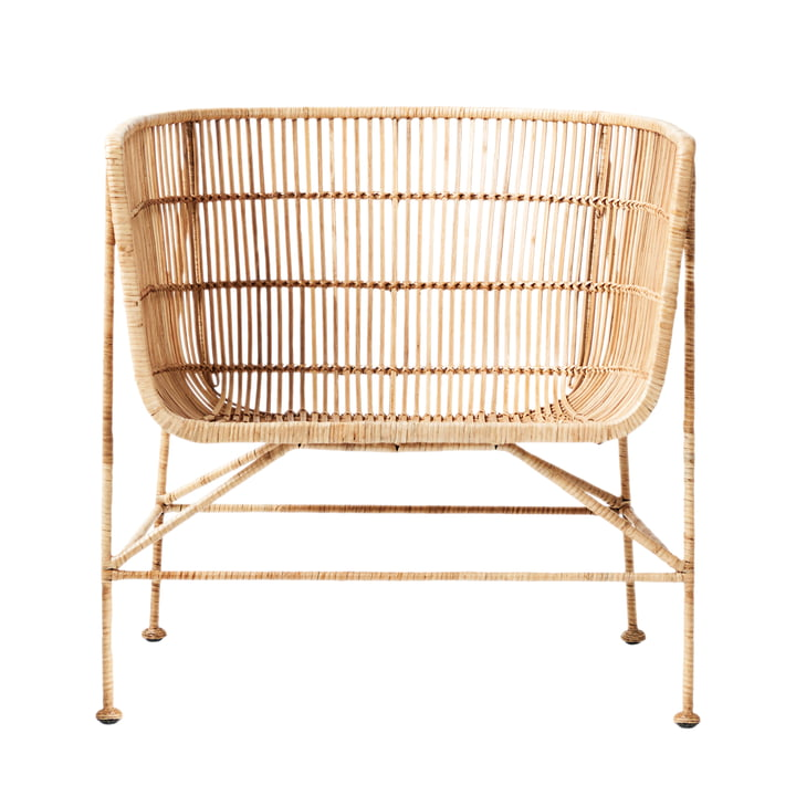 The Cuun Rattan Lounge Chair, natural by House Doctor