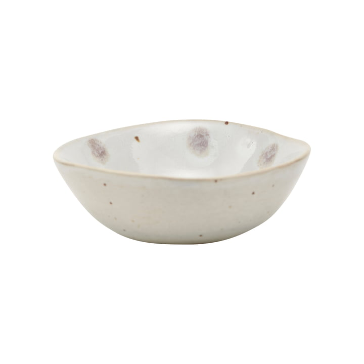 Dots bowl, Ø 8.8 cm, white / green by House Doctor