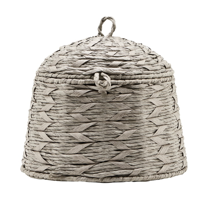 The basket with lid, Reve, Ø 28 cm, gray by House Doctor