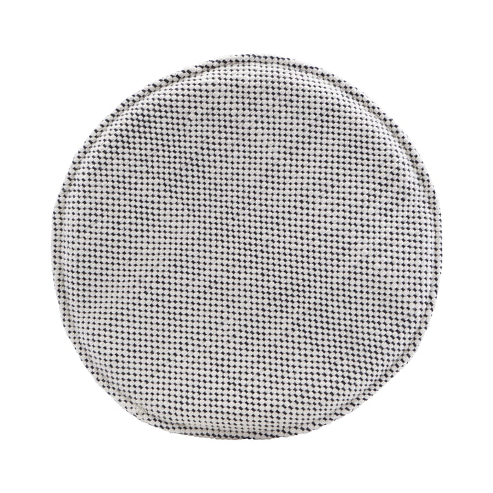 The seat cushion for Cuun rattan chair Ø 35 cm, black / white by House Doctor
